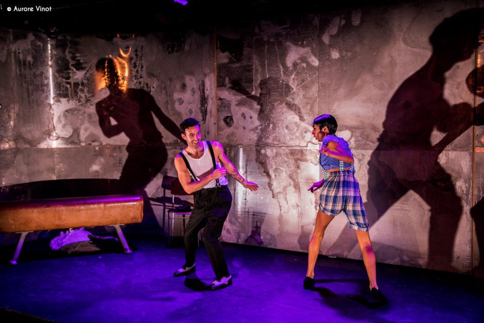 Thomas Armand et Clarisse Caplan dans Joséphine au Théâtre de la Scène Parisienne. Mise en scène Xavier Durringer. Chorégraphie Florence Lavie.